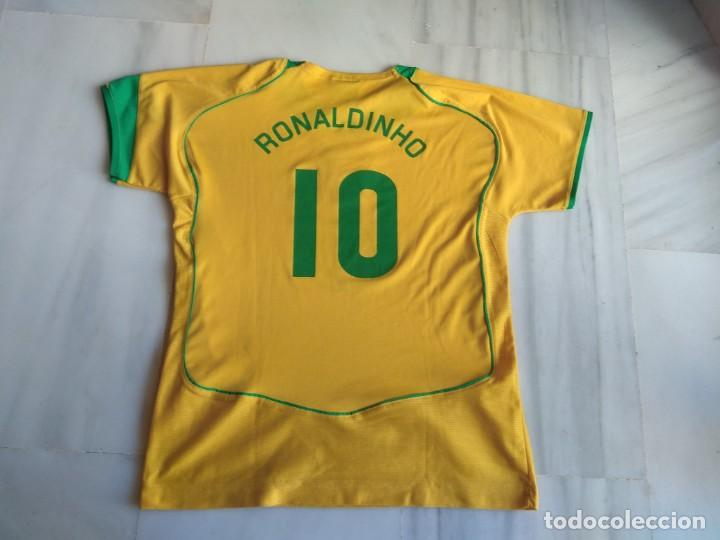 Coleccionismo deportivo: CAMISETA RONALDINHO BRAZIL FOOTBALL LEAGUE TALLA 14 - Foto 4 - 154212002
