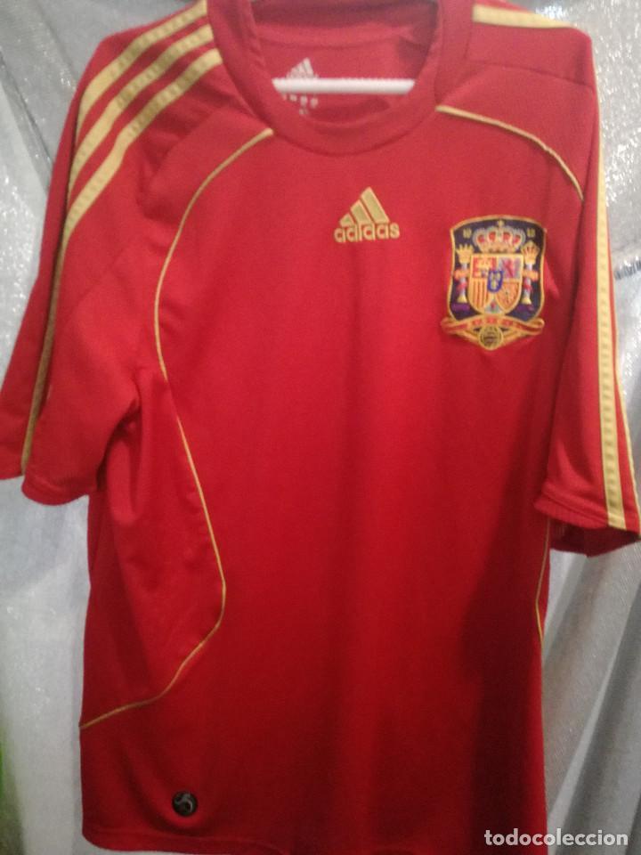 ESPAÑA SPAIN L CAMISETA FUTBOL FOOTBALL (Coleccionismo Deportivo - Ropa y Complementos - Camisetas de Fútbol)