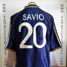Coleccionismo deportivo: CAMISETA FUTBOL REAL MADRID Nº20 SAVIO 1998-1999 ADIDAS . Lote 155440174