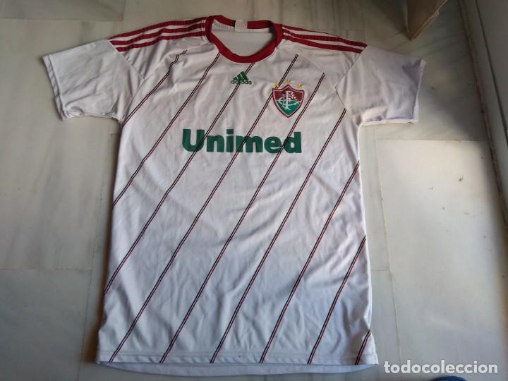 CAMISETA DE FUTBOL FLUMINENSE UNIMED TALLA L (Coleccionismo Deportivo - Ropa y Complementos - Camisetas de Fútbol)