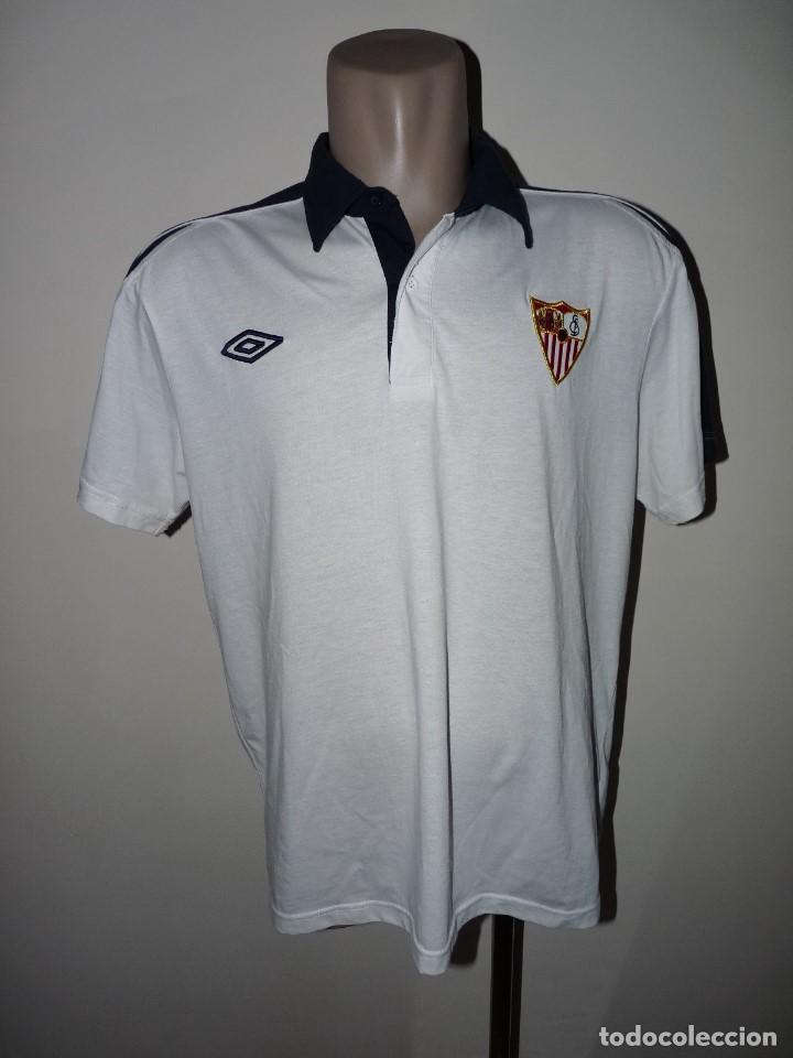 Coleccionismo deportivo: Polo Umbro Sevilla CF - Foto 2 - 277298408