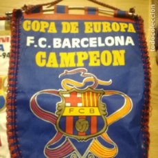 Coleccionismo deportivo: 1992 COPA EUROPA VERY RARE FC BARCELONA VINTAGE PENNANT FOOTBALL FUTBOL BANDERIN. Lote 157917326