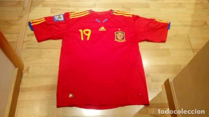 CAMISETA SELECCIÓN ESPAÑA MUNDIAL SUDÁFRICA PLAYER LLORENTE (Coleccionismo Deportivo - Ropa y Complementos - Camisetas de Fútbol)