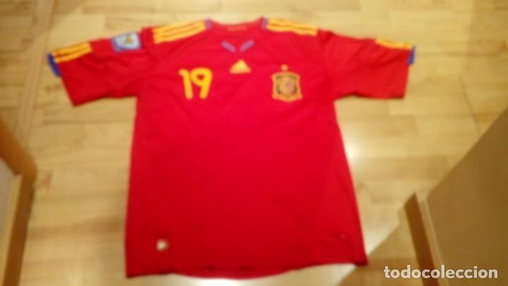 Coleccionismo deportivo: CAMISETA SELECCIÓN ESPAÑA mundial Sudáfrica Player LLORENTE - Foto 2 - 160649097
