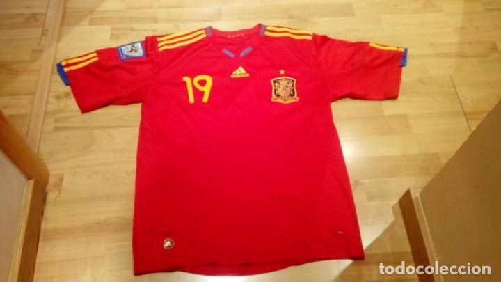 Coleccionismo deportivo: CAMISETA SELECCIÓN ESPAÑA mundial Sudáfrica Player LLORENTE - Foto 4 - 160649097