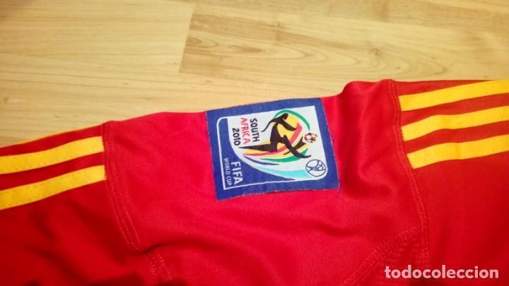 Coleccionismo deportivo: CAMISETA SELECCIÓN ESPAÑA mundial Sudáfrica Player LLORENTE - Foto 6 - 160649097