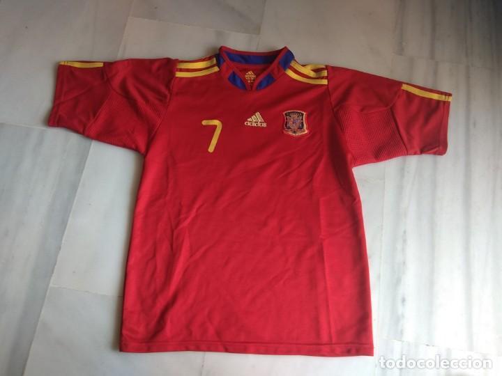 CAMISETA DAVID VILLA SELECCION ESPAÑOLA TALLA 18 (Coleccionismo Deportivo - Ropa y Complementos - Camisetas de Fútbol)