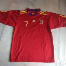 Coleccionismo deportivo: CAMISETA DAVID VILLA SELECCION ESPAÑOLA TALLA 18. Lote 158075522