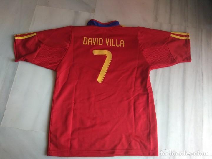 Coleccionismo deportivo: CAMISETA DAVID VILLA SELECCION ESPAÑOLA TALLA 18 - Foto 3 - 158075522