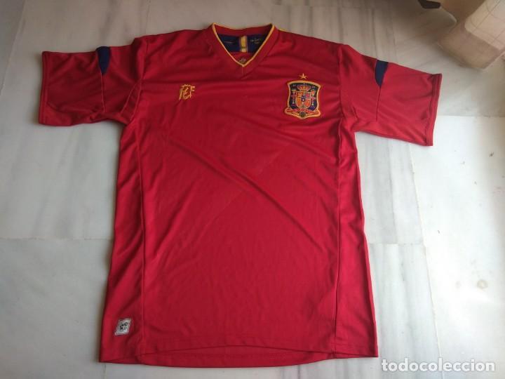 CAMISETA SELECCIÓN ESPAÑOLA CRUZCAMPO TALLA L (Coleccionismo Deportivo - Ropa y Complementos - Camisetas de Fútbol)