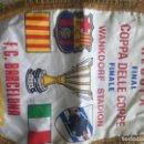 Coleccionismo deportivo: SAMPDORIA FC BARCELONA VINTAGE LUXE BANDERIN FINAL FOOTBALL PENNANT FUTBOL . Lote 159915454