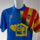 Coleccionismo deportivo: CAMISETA VALENCIA SENYERA 94/95. Lote 160599478
