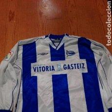 Collectionnisme sportif: CAMISETA DEL ALAVES DE ANGEL ORIGINAL DEL PROPIO JUGADOR. Lote 110076124