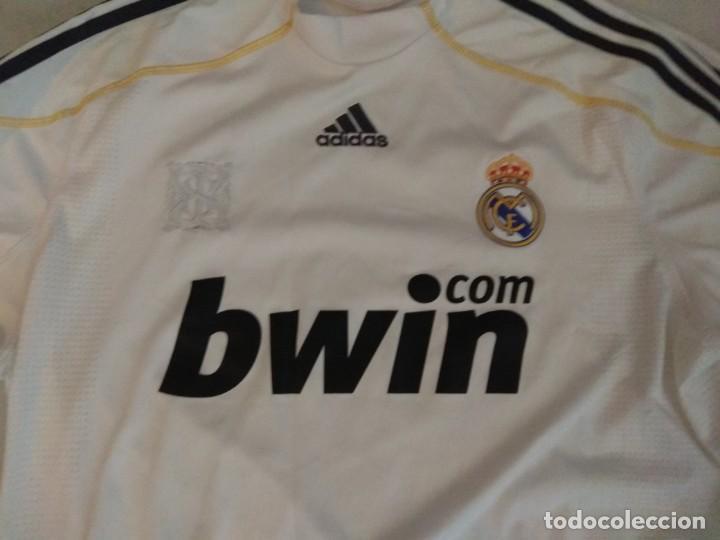 Coleccionismo deportivo: CAMISETA REAL MADRID B BWIN RONALDO 9 TALLA L - Foto 2 - 162634286