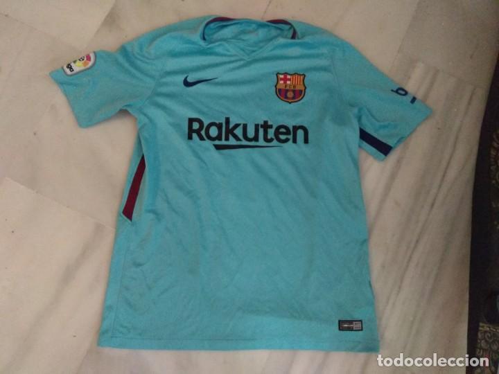 CAMISETA F.C BARCELONA UMTITI 23 TALLA L (Coleccionismo Deportivo - Ropa y Complementos - Camisetas de Fútbol)