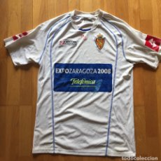 Coleccionismo deportivo: CAMISETA REAL ZARAGOZA LOTTO EXPOZARAGOZA 2008. Lote 164815486