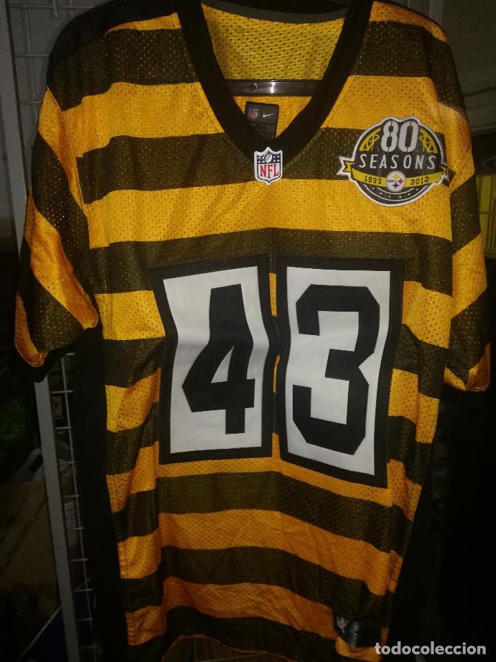 the latest 0a33e 3b0aa PITTSBURGH STEELERS POLAMALU LEGEND NFL FUTBOL XL FOOTBALL AMERICANO JERSEY  L Camiseta shirt