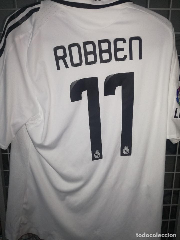 buy popular aaf16 00f0c ROBBEN REAL MADRID LEGEND MATCH WORN L Football futbol camiseta shirt