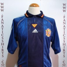 Coleccionismo deportivo: CAMISETA FUTBOL SELECCION ESPAÑA 1998 (L) AWAY ADIDAS . Lote 167512692