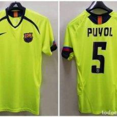 Sports collectibles - Camiseta retro reserva FC Barcelona 2002. Puyol. Talla L - 167563476