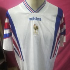 Coleccionismo deportivo: CAMISETA FUTBOL ORIGINAL ADIDAS SELECCION FRANCESA F.F.F. DE LOS 90. Lote 169675264