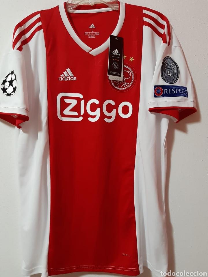 mitad de descuento 54c74 8602a Camiseta casa Ajax Amsterdam Champions League de 2019 Van de Beek