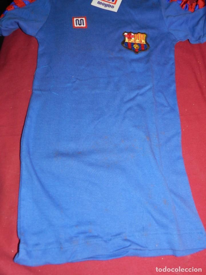 Coleccionismo deportivo: (M) FC Barcelona Camiseta Meyba azul de Entrenamiento para Estrenar Talla XP, Señales de Uso Normal - Foto 3 - 170525764