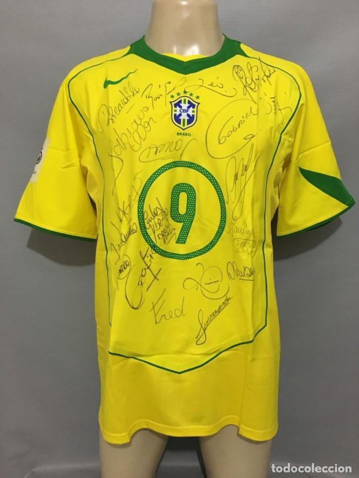 reputable site 30f06 3852d Camiseta 2004 Brasil #9 Ronaldo match worn shirt signed jersey