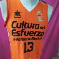 Coleccionismo deportivo: CAMISETA BALONCESTO ORIGINAL LUANVI VALENCIA BASKET CLUB Nº13 CULTURA DEL. ESFUERZO BPVBC-1986. Lote 171335384