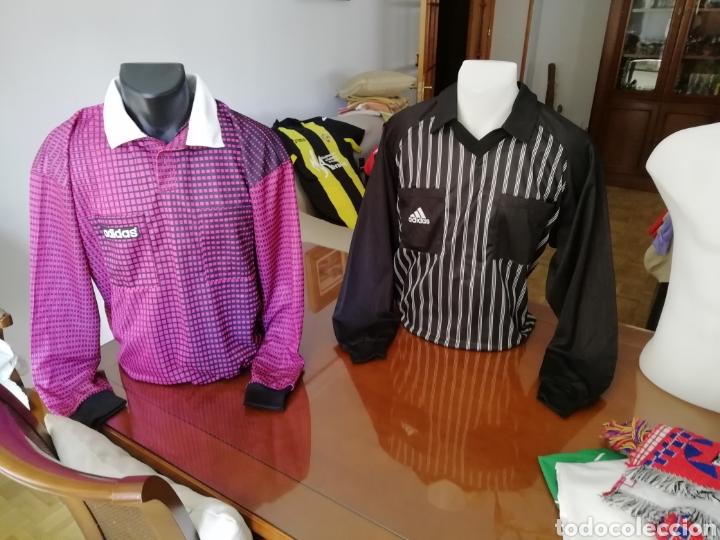 Coleccionismo deportivo: Camisetas árbitros llamativas. Diferentes colores. - Foto 2 - 171452398