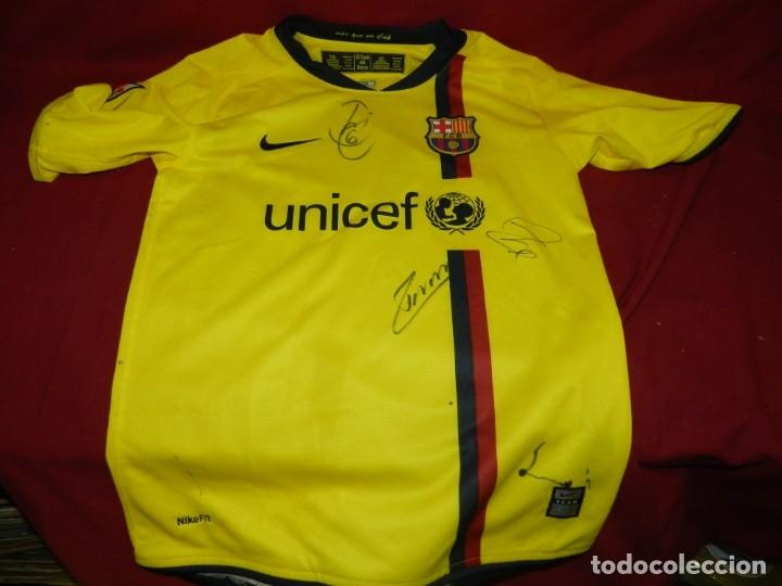 Coleccionismo deportivo: (M) Camiseta Oficial FC Barcelona Temporada 2008 - 2009 Firmada Por Andrés Iniesta, Xavi Hernández, - Foto 2 - 172746790