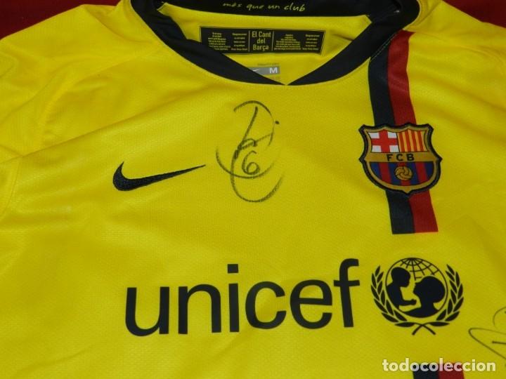 Coleccionismo deportivo: (M) Camiseta Oficial FC Barcelona Temporada 2008 - 2009 Firmada Por Andrés Iniesta, Xavi Hernández, - Foto 3 - 172746790