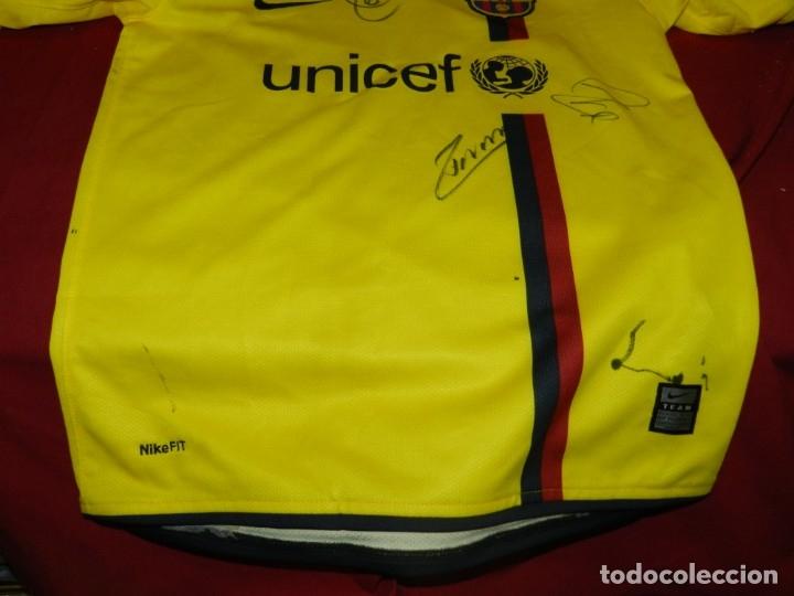 Coleccionismo deportivo: (M) Camiseta Oficial FC Barcelona Temporada 2008 - 2009 Firmada Por Andrés Iniesta, Xavi Hernández, - Foto 6 - 172746790