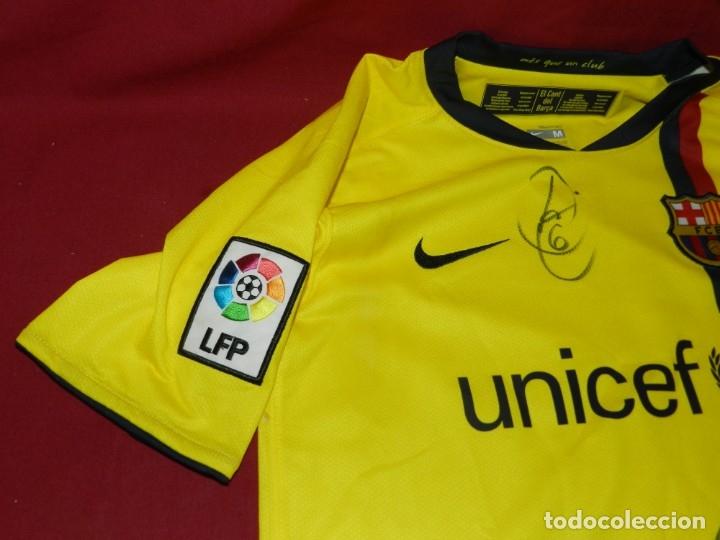 Coleccionismo deportivo: (M) Camiseta Oficial FC Barcelona Temporada 2008 - 2009 Firmada Por Andrés Iniesta, Xavi Hernández, - Foto 7 - 172746790