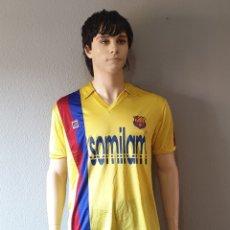 Coleccionismo deportivo: F.C BARCELONA FUTSAL Nº13 1982-1985 MEYBA AMARILLA SOMILAM. Lote 173507920
