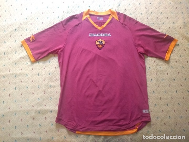 CAMISETA AS ROMA - TEMPORADA 2005 2006 - DIADORA - OFICIAL (Coleccionismo Deportivo - Ropa y Complementos - Camisetas de Fútbol)