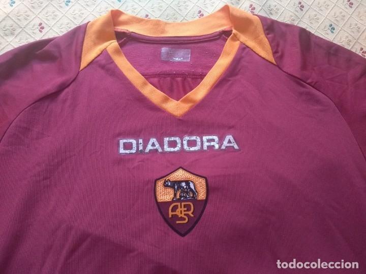 Coleccionismo deportivo: CAMISETA AS ROMA - TEMPORADA 2005 2006 - DIADORA - OFICIAL - Foto 4 - 175191879