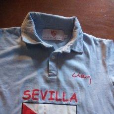 Coleccionismo deportivo: SEVILLA FUTBOL CLUB SAD - POLO CONMEMORATIVO CENTENARIO 1905-2005 - CELESTE TALLA 12. . Lote 176326200