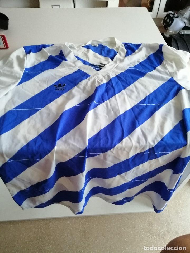 G-RAS33 CAMISETA DE FUTBOL MARCA ADIDAS ESTILO ARGENTINA TALLA NO APARECE PERO GRANDE (Coleccionismo Deportivo - Ropa y Complementos - Camisetas de Fútbol)