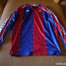 Coleccionismo deportivo: CAMISETA F.C BARCELONA KAPPA DE LA LIGA 1995 - 96 MANGA LARGA TALLA XL. Lote 177464264