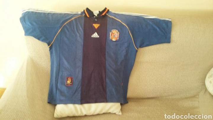 Coleccionismo deportivo: Camiseta selección española mundial 98. Talla L. - Foto 2 - 178160629