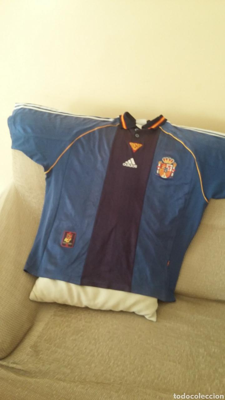 Coleccionismo deportivo: Camiseta selección española mundial 98. Talla L. - Foto 3 - 178160629