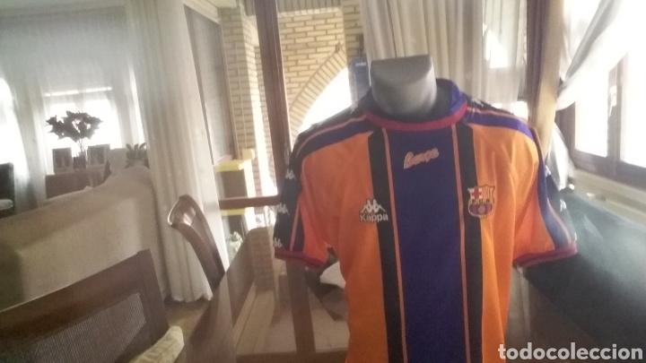 Coleccionismo deportivo: FC Barcelona. 2a equipacion 1998. Talla L. - Foto 2 - 178161015