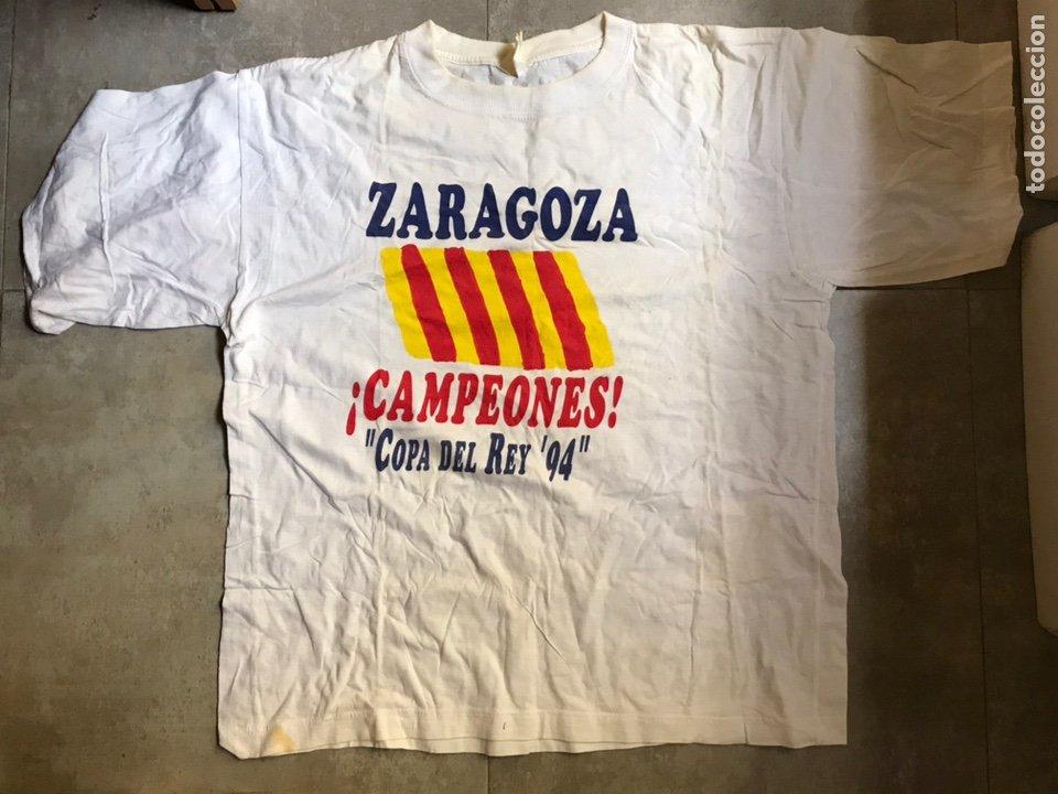 CAMISETA REAL ZARAGOZA CONMEMORATIVA FUTBOL COPA DEL REY 1994 (VER DESCRIPCIÓN) (Coleccionismo Deportivo - Ropa y Complementos - Camisetas de Fútbol)