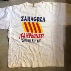 Coleccionismo deportivo: CAMISETA REAL ZARAGOZA CONMEMORATIVA FUTBOL COPA DEL REY 1994 (VER DESCRIPCIÓN). Lote 178344223