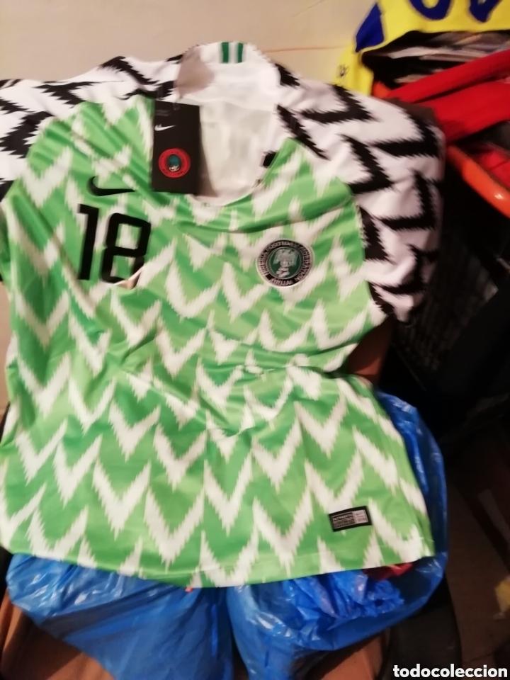 SELECCIÓN NIGERIA 2018. TALLA L. CON ETIQUETA Y NÚMERO. (Coleccionismo Deportivo - Ropa y Complementos - Camisetas de Fútbol)