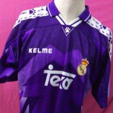 Coleccionismo deportivo: RARA CAMISETA FUTBOL ORIGINAL KELME REAL MADRID TEKA TALLA XL. Lote 179190050