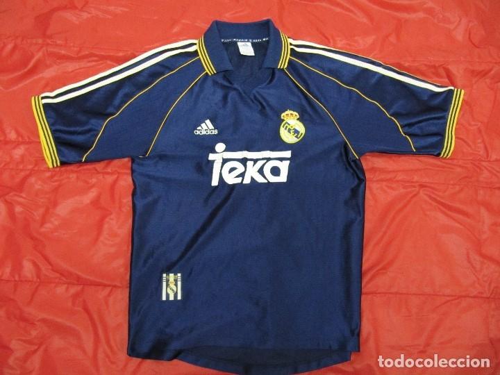 CAMISETA R.MADRID ADIDAS PUBLICIDAD TEKA TALLA S ORIGINAL AZUL (Coleccionismo Deportivo - Ropa y Complementos - Camisetas de Fútbol)