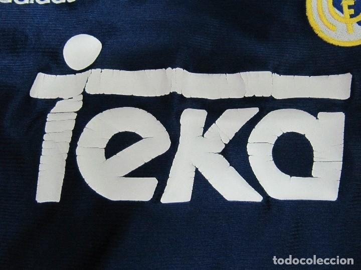 Coleccionismo deportivo: Camiseta R.Madrid ADIDAS publicidad Teka talla S original azul - Foto 3 - 179242693