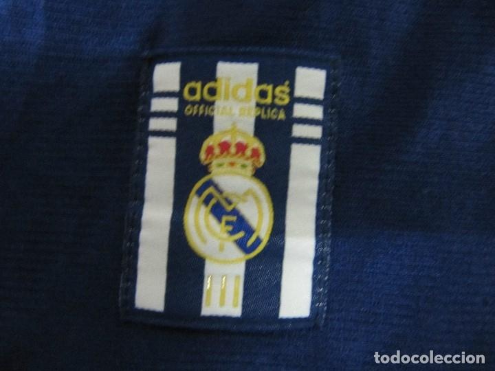Coleccionismo deportivo: Camiseta R.Madrid ADIDAS publicidad Teka talla S original azul - Foto 5 - 179242693